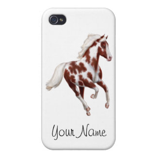 Customizable Overo Paint Horse iPhone 4/4S Covers