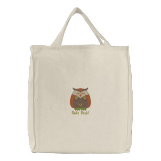 Customizable Owl Lover Embroidered Tote Bag