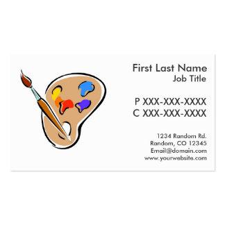 Customizable paint pallette business cards