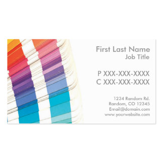 Customizable paint samples business cards