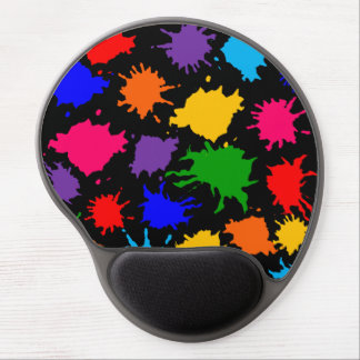 Customizable Paint Splatter Gel Mouse Pad