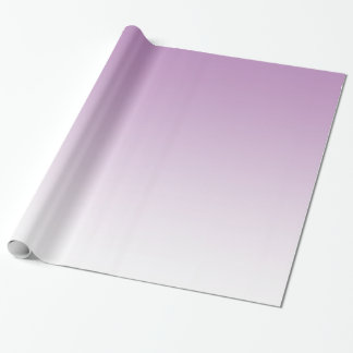 Customizable Pale Purple Fade Wrapping Paper