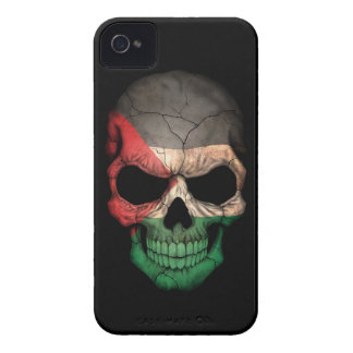 Customizable Palestinian Flag Skull iPhone 4 Covers