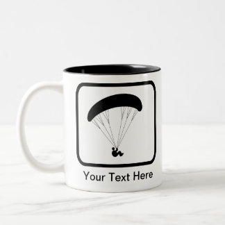 Customizable Paraglider Logo Two-Tone Coffee Mug
