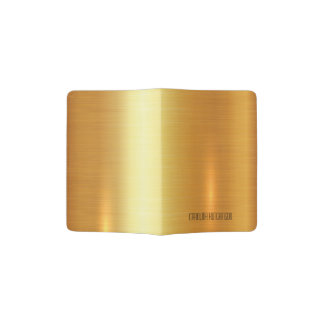 Customizable passport holder in gold