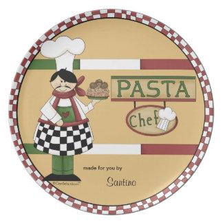 Customizable Pasta Chef Plate
