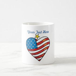 Customizable Patriotic Heart Coffee Mug