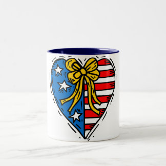 Customizable Patriotic Heart Mug