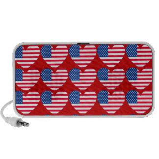 Customizable Patriotic Hearts Speaker System