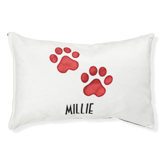 Customizable Paw Print Small Pet Bed