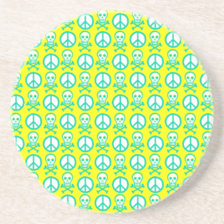 Customizable Peace Skulls Coasters
