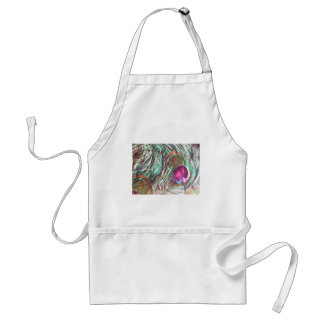 Customizable: Peacock feathers Adult Apron