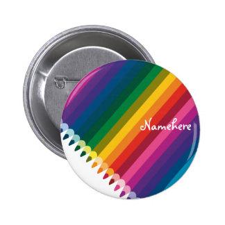 Customizable: Pencil stripe 6 Cm Round Badge