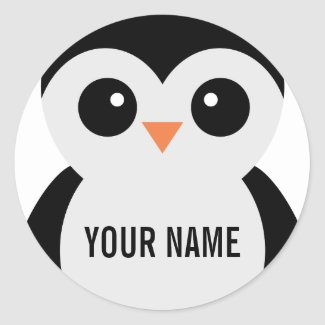 Customizable penguin stickers