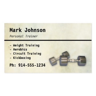 CUSTOMIZABLE Personal Trainer BC Pack Of Standard Business Cards