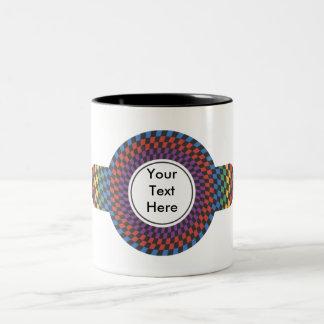 Customizable Personalized Rainbow Abstract Mugs