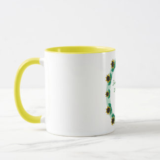 Customizable Personalized Sunflower Border Mug