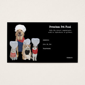 Customizable Pet Food/Treats Business Business Card