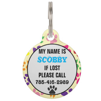 Customizable Pet Name Tag