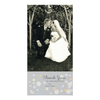 Customizable Photo Card: Champagne Bubbles Customized Photo Card