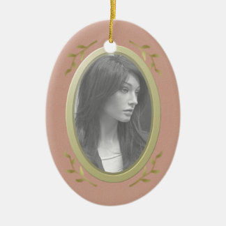 Customizable Photo Memorial / Remembrance Ceramic Oval Decoration