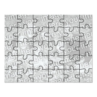 "Customizable Photo ""Mock"" Puzzle Card-30 pieces Personalized Invite"