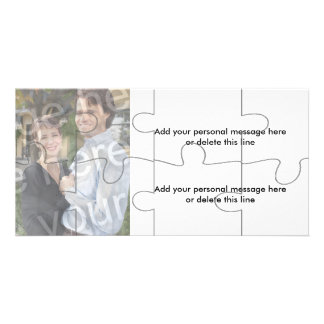 """Customizable Photo """"Mock"""" Puzzle Card - 8 pieces Personalised Photo Card"""