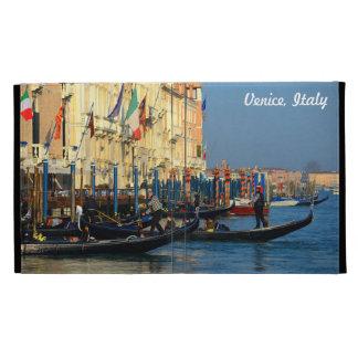 Customizable Photo of Gondolas From Venice, Italy iPad Folio Cover