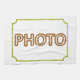 Customizable photo on tea towel