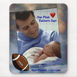 Customizable Photo Our First Fathers Day Mousepad