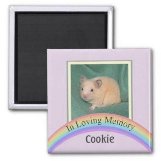 Customizable Photo Pet Memorial (Mauve) Square Magnet
