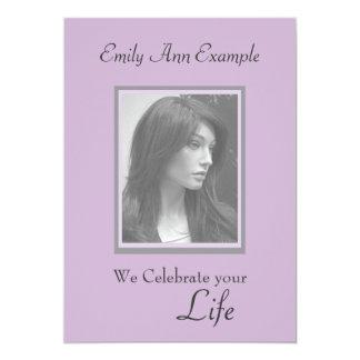 Customizable Photo Remembrance / Funeral 13 Cm X 18 Cm Invitation Card