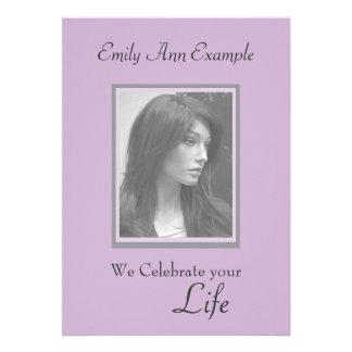 Customizable Photo Remembrance Funeral Personalized Invite