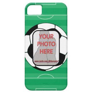 Customizable photo soccer ball iPhone 5 case