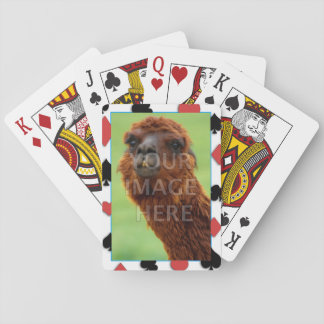 Customizable Photo Template Playing Cards