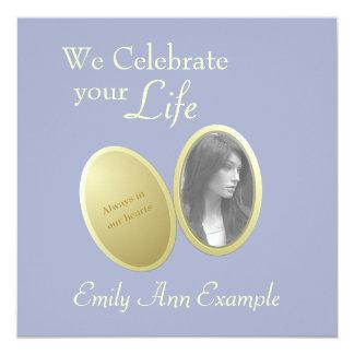 Customizable Photo: Wake / (Living) Funeral Custom Invitations