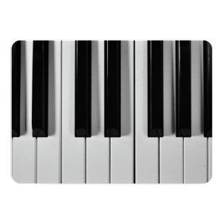 Customizable Piano Keyboard Invitations