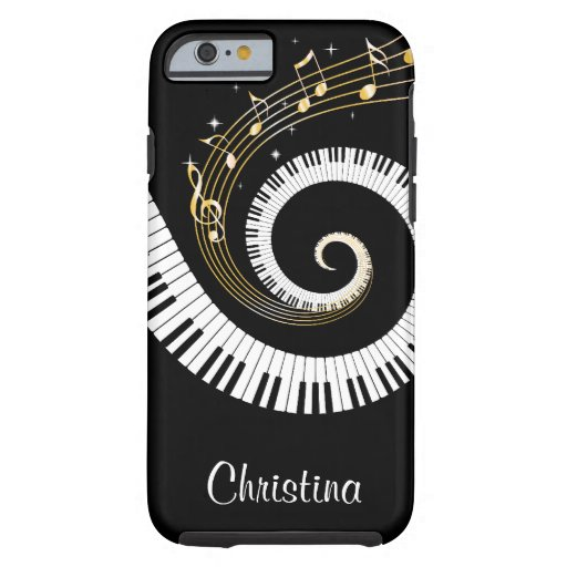 Customizable Piano Keys and Gold Music Notes iphon iPhone 6 Case