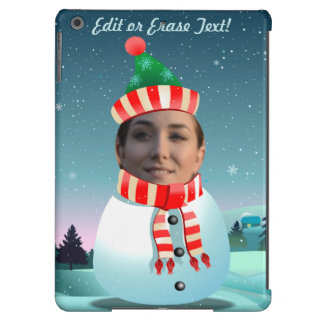 Customizable Picture Snowman iPad Air Cases