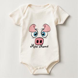 Customizable Pig Baby Bodysuit