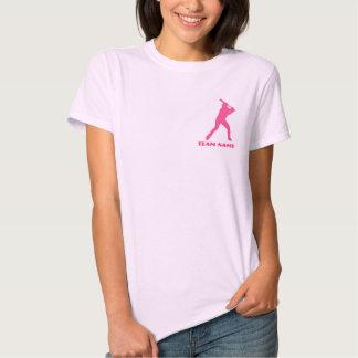 Customizable pink baseball ladies team tee