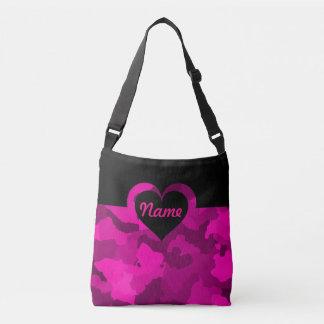 Customizable Pink Camo for Medium Crossbody Bag
