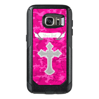 Customizable - Pink Camo with Cross OtterBox Samsung Galaxy S7 Case