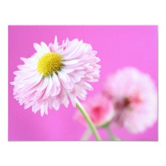 Customizable Pink Daisy - English Daisy 11 Cm X 14 Cm Invitation Card