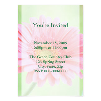 Customizable Pink Gerber Daisy Invitations