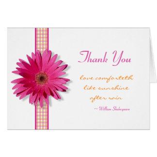Customizable Pink Gerbera Daisy Thank You Card
