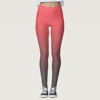 Customizable Pink Gray Ombre Background Leggings