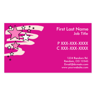 Customizable pink stars design business cards