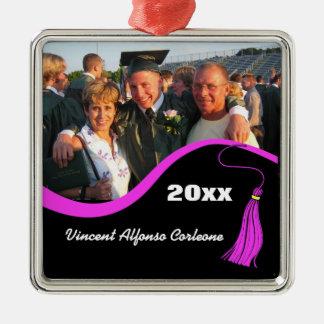Customizable Pink Tassel Graduation Ornament