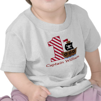 Customizable Pirate First birthday shirt one year